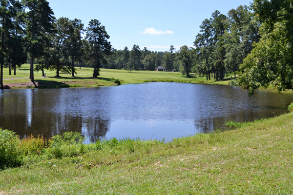 A pond on the course at Calhoun Hills Golf Complex