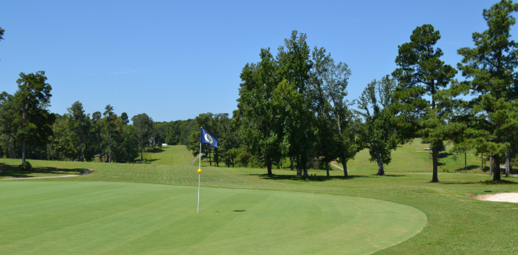 View of one of the holes on the course at Calhoun Hills Golf Complex